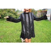 Курточка из перчаточной кожи и замши, натуральная.
