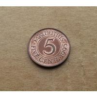 Маврикий, 5 центов 1995 г.