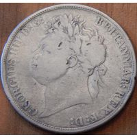 100. Великобритания 1 крона Георг-4 1821 год, серебро*