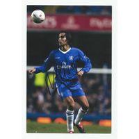 Nuno Morais(Chelsea, Англия). Живой автограф на фотографии.