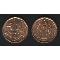 Южная Африка (ЮАР) km135 10 центов 1994 год (b06)