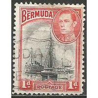 Бермуды. Король Георг VI. Пристань в Гамильтоне. 1938г. Mi#101а.