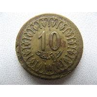 Тунис 10 миллимов 1960 г.