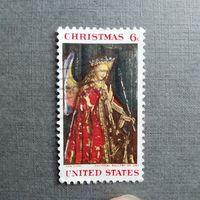 Марка США 1968 год. Рождество