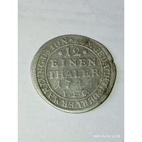 1/12 таллера 1714 года . P . F . C .  Ну очень редкая !!! С рубля .