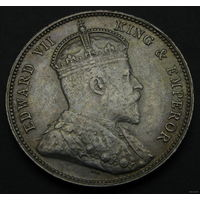 Стрейтс Сетлментс 20 центов 1903 (СЕРЕБРО) AUNS, 2