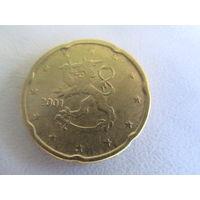 20 евроцентов 2001г Финляндия