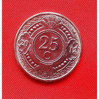 39-24 Антильские острова, 25 центов 2012 г. Единственное предложение монеты данного года на АУ