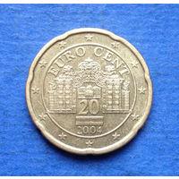 Австрия 20 евроцентов 2004