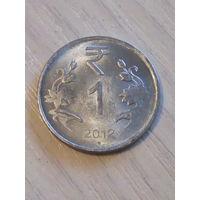Индия 1 рупия 2012г.