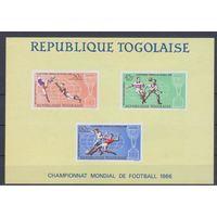 [1872] Того 1966. Спорт.Футбол.Чемпионат мира. БЛОК.