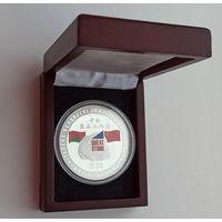 Футляр к монете 56 мм деревянный с черным ложементом