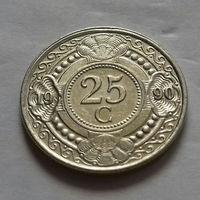 25 центов, Нидерландские Антильские острова, (Антиллы) 1990 г., AU