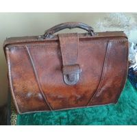 Сумка, кожа, 30-40 гг., Европа, портфель саквояж чемодан
