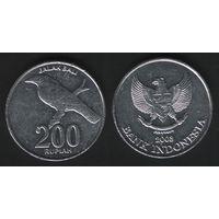 Индонезия km66 200 рупий 2003 год (all)(f08)*