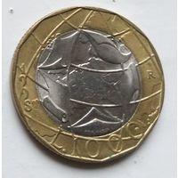 Италия 1000 лир, 1998 2-10-8