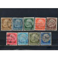 Германия Респ 1933 Гиндебург в медальоне II Стандарт #482-7,489-90,494