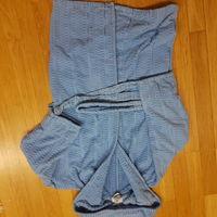 Халат махровый голубой 134-140