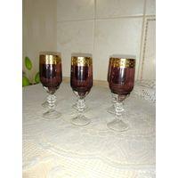 Рюмки, 6 шт, марганцевое стекло