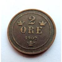Швеция, 2 эре 1902 год