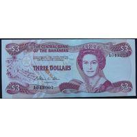Багамские острова. 3 доллара 1974 [UNC]