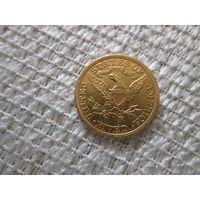 5  долларов  США,   1892 г.