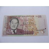 Маврикий. 25 рупий 2009 год