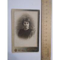 Фото девушки Минск ателье Миранского до 1917 г.