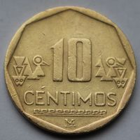 Перу, 10 сентимо 2012 г.