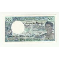 Новые Гебриды 500 франков 1970 года. Тип P19a. Состояние UNC! Редкая! (2)