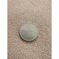 ГДР 5 марок 1971 Бранденбургские ворота (пятна)