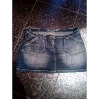 Фирменная джинсовая юбка размер 50-52