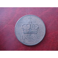 1 крона 1976 год Норвегия