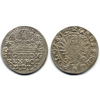Грош 1612, Сигизмунд III Ваза, Краков. Герб Пилава в щите на Рв. Коллекционное состояние