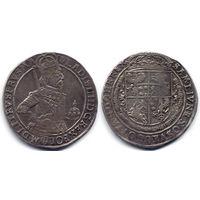Талер 1634, Владислав IV Ваза, Быдгощ. Штемпельный блеск под старой коллекционной патиной