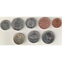 Уганда Набор 8 монет