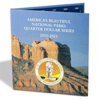 Альбом для американских квотеров (национальные парки) качество немецкой фирмы Leuchtturm