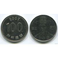 Южная Корея. 100 вон (2007)