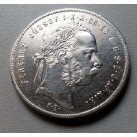 Венгрия 1 форинт 1878 г.