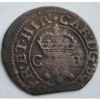 Шотландский торнер (двойной пенни) 1632-1633 г. первая медная монета на Беларуси-10