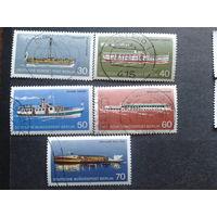 Берлин 1975 Корабли Михель-4,5 евро гаш. полная серия