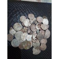 Монетки ри 40шт,(с рубля)