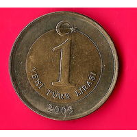 14-25 Турция,1 лира 2005 г.