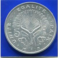 Джибути 5 франков 1991