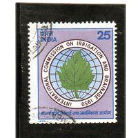 Индия.Ми-640.25-я годовщина создания комиссии по ирригации и дренажу - эмблема.1975.
