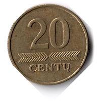 Литва. 20 центов. 1999 г.