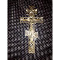 Крест-распятие Христово, старинный, бронза. ОРИГИНАЛ