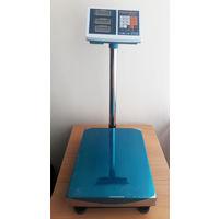 Торговые электронные весы напольные до 100 кг со стойкой