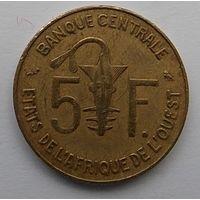 Западные Африканские Штаты 5 франков 1965