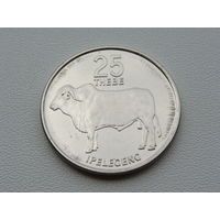 """Ботсвана. 25 тхебе 1991 года   """"Горбатый бык - Зебу""""  КМ#6а"""